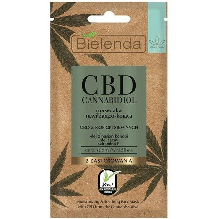 Bielenda CBD Cannabidiol face mask moisturizing and calming for dry skin 8g