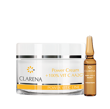 Clarena Power Pure Vit C Line Power Cream + 100%Vit C AA2G™ 100ml +3 ML 1837
