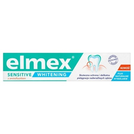 Elmex Sensitive Whitening Toothpaste with Aminfluoride 75ml