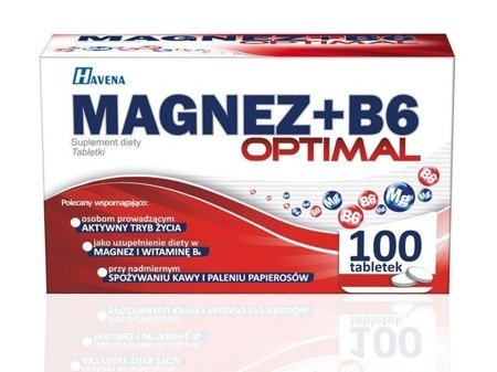 Magnesium + B6 supplements OPTIMAL 100 TABLE magnesium deficiency